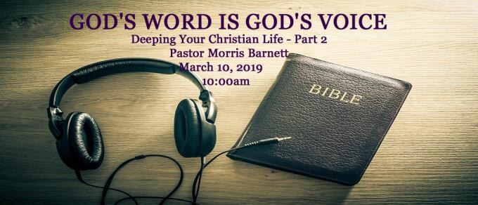 GOD'S WORD IS GOD'S VOICE