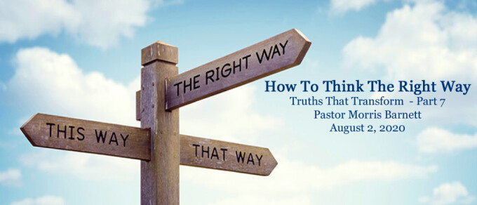 How To Think The Right Way